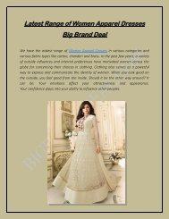 Latest Range of Women Apparel Dresses