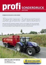 profi Sonderdruck 09/2018 - Intelligentes Bremssystem von New Holland - Bequem bremsen