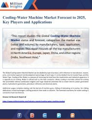 Cooling-Water Machine Market Forecast to 2025, Key Players and Applications