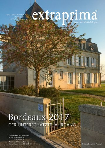 Extraprima Magazin 2019/01 Bordeaux 2017 in Subskription
