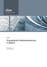 Energetische Gebäudesanierung in Bayern - Vereinigung der ...
