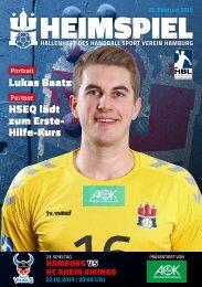 Hallenheft | HSVH vs. HC Rhein Vikings