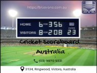 Cricket Scoreboard Australia with the best price! | Blue Vane