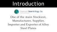Stockiest,  Manufacturer, Supplier,  Importer and Exporter of Alloy  Steel Plates