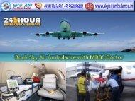 Available Classy Charter Air Ambulance Service in Jabalpur