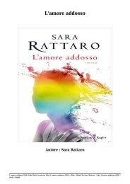 Scaricare Libri L'amore addosso Gratis Di Sara Rattaro