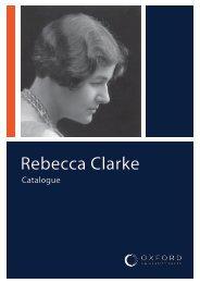 Rebecca Clarke Catalogue