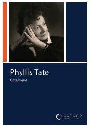 Phyllis Tate Catalogue