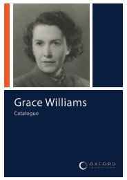 Grace Williams Catalogue