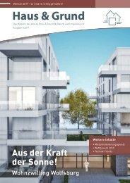 haus & Grund Wolfsburg und Umgebung e.V. Ausgabe 01/2019 Februar 2019