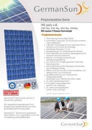 Polykristalline Serie HS poly x-6 - Havelland Solar