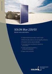 SOLON Blue 220/03 - Havelland Solar