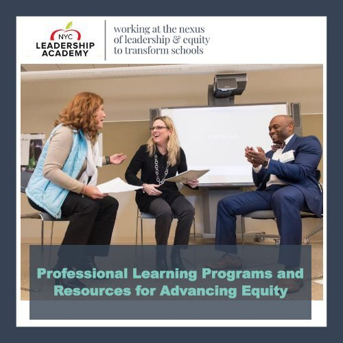 Professional Learning for Advancing Equity