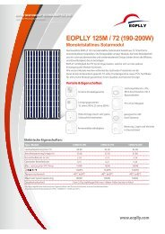 EOPLLY 125M / 72 (190-200W) Monokristallines ... - Havelland Solar