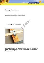 Havelland-Solar Montage Kurzanleitung