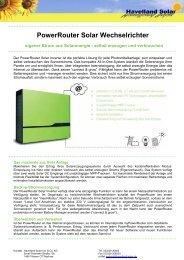 PowerRouter Solar Wechselrichter - Havelland Solar
