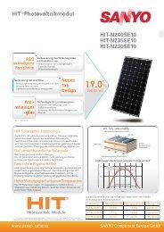 Sanyo Hit-N240SE10 - Havelland Solar
