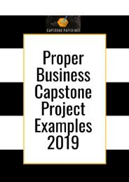 Proper Business Capstone Project Examples 2019