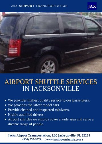 Airport Shuttle Services in Jacksonville