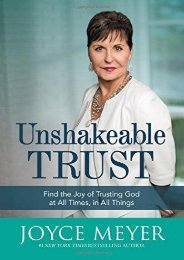 [+]The best book of the month Unshakeable Trust: Find the Joy of Trusting God at All Times, in All Things  [READ]