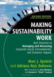[+][PDF] TOP TREND Making Sustainability Work: Best Practices in Managing and Measuring Corporate Social, Environmental and Economic Impacts  [READ]