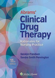 [+][PDF] TOP TREND Abrams  Clinical Drug Therapy: Rationales for Nursing Practice [PDF]