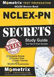 [+]The best book of the month NCLEX Review Book: NCLEX-PN Secrets Study Guide: Complete Review, Practice Tests, Video Tutorials for the NCLEX-PN Examination  [FREE]