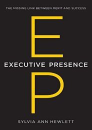 [+]The best book of the month Executive Presence: The Missing Link Between Merit and Success [PDF]