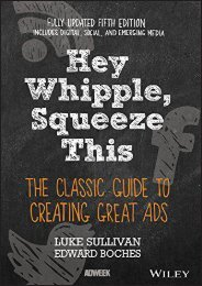 [+]The best book of the month Hey, Whipple, Squeeze This: The Classic Guide to Creating Great Ads, 5th Edition  [READ]