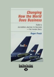 [+][PDF] TOP TREND Changing How the World Does Business: FedEx s Incredible Journey to Success - The Inside Story  [NEWS]