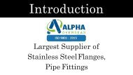 Manufacturer, Suppliers And Exporters Of Stainless Steel Flanges, pipe fittings