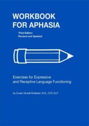 [+]The best book of the month Workbook for Aphasia: Exercises for Expressive and Receptive Language Functioning (William Beaumont Hospital Series in Speech and Language Pathology)  [NEWS]