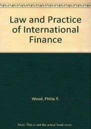 [+]The best book of the month The Law and Practice of International Finance  [FULL]