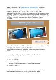 DISKON, WA +62 812-9627-2689, Jual Bio Septic Tank Kecamatan Gerokgak, Buleleng, Bali