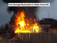 Fire Damage Restoration in Wake Forest NC