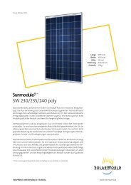 SW 230/235/240 poly - Havelland Solar