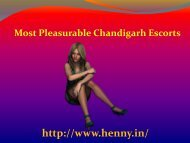 Chandigarh Escorts Agency