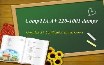 CompTIA A+ 220-1001 dumps