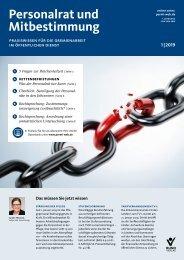 Personalrat und Mitbestimmung | Ausgabe 1|2019