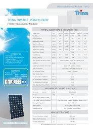 TRINA TSM-D05 , 200W to 240W - Havelland Solar