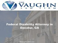 Federal Disability Attorney in Decatur, GA