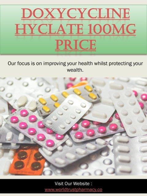 Doxycycline Hyclate 100mg Price
