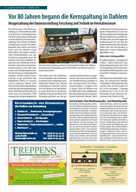 Gazette Zehlendorf März 2019