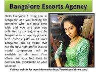 Bangalore Escorts Agency