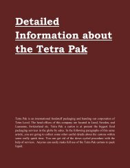 Detailed Information about the Tetra Pak