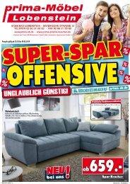Super-Spar-Offensive - Prima-Möbel 07356 Bad Lobenstein