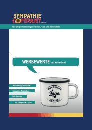 Katalog Sympathie Company GmbH - Werbeartikel aus Porzellan, Glas & Emaille