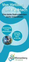 Gewerbetag_Bad Wünnenberg_Broschüre