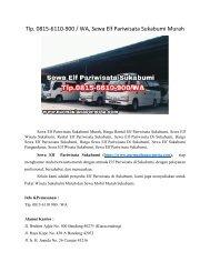 Tlp. 0815-6110-900 / WA, Sewa Elf Pariwisata Sukabumi Murah