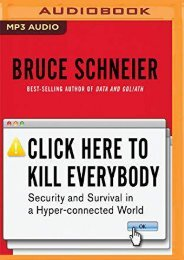 [+][PDF] TOP TREND Click Here to Kill Everybody: Security and Survival in a Hyper-Connected World  [NEWS]